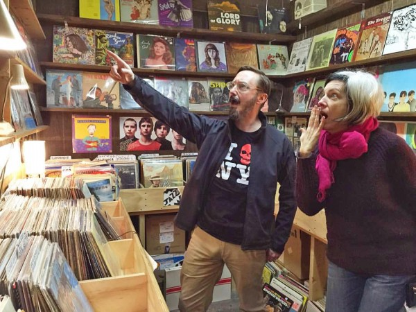 John Hodgman and Christine O'Connor can't believe the rarity they just spotted in our overflowing record room!