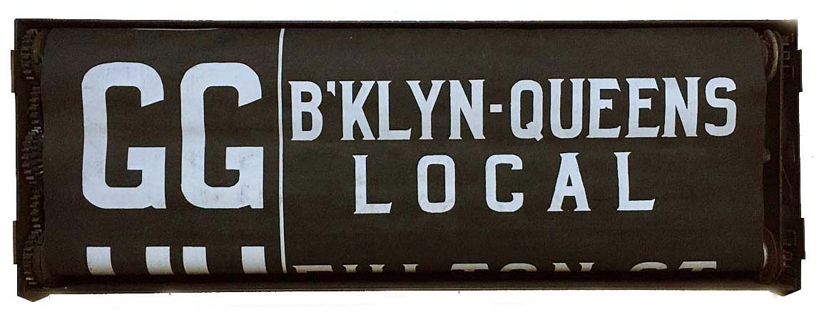 Just arrived: vintage NYC subway rollsign.