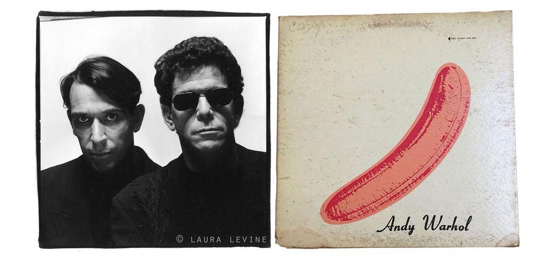 Laura Levine. Lou Reed and John Cale, NYC, 1989, silver gelatin print.